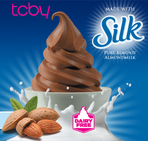 TCBY is now offering dairy-free frozen yogurt made with Silk® almondmilk.
